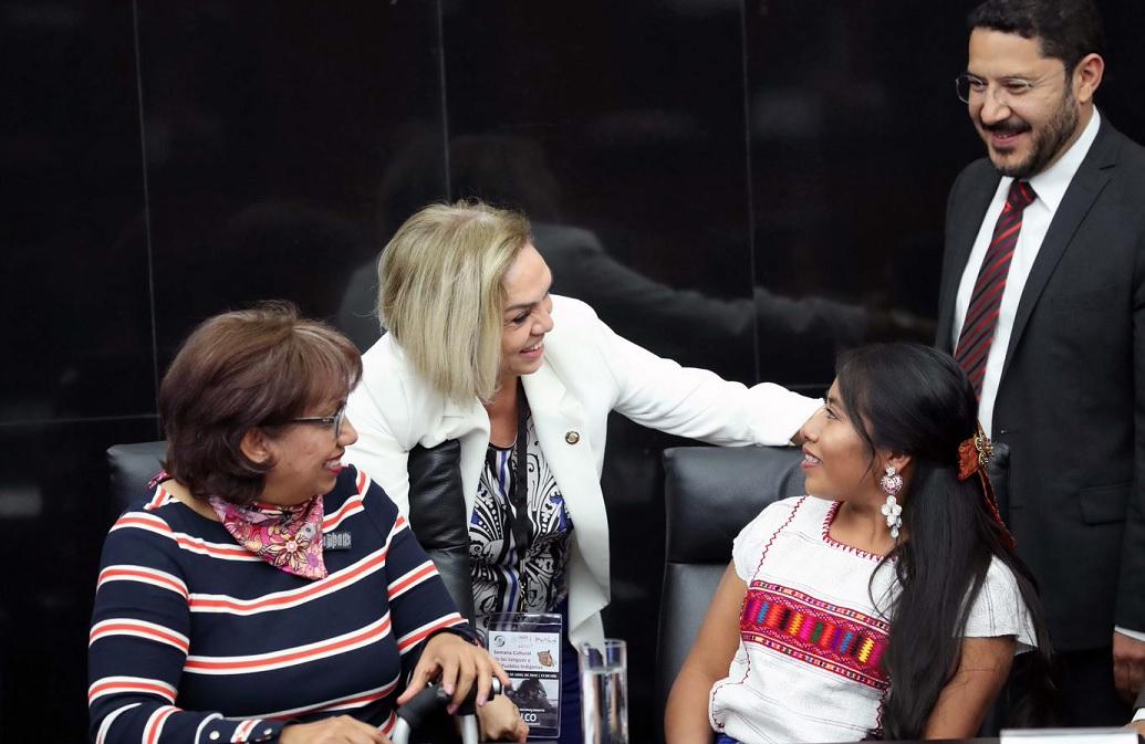Homenaje a Yalitza Aparicio y Nancy García en Senado