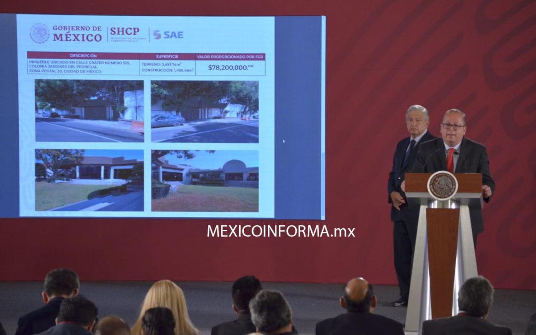 A subasta residencias asignadas a Rosi Orozco y Gerardo Sánchez por 133 mdp