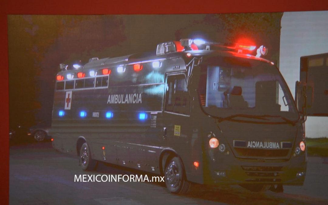 Ambulancia que dono Rey de Jordania, va a Guardia Nacional