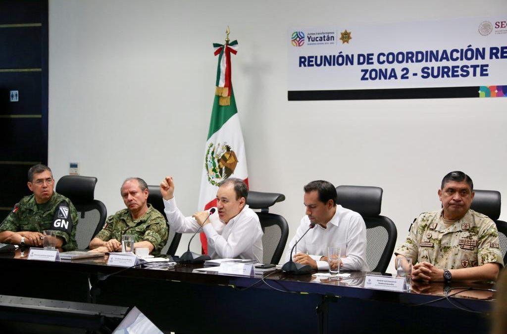 Acuerdan acciones sobre la Guardia Nacional en el sureste del país
