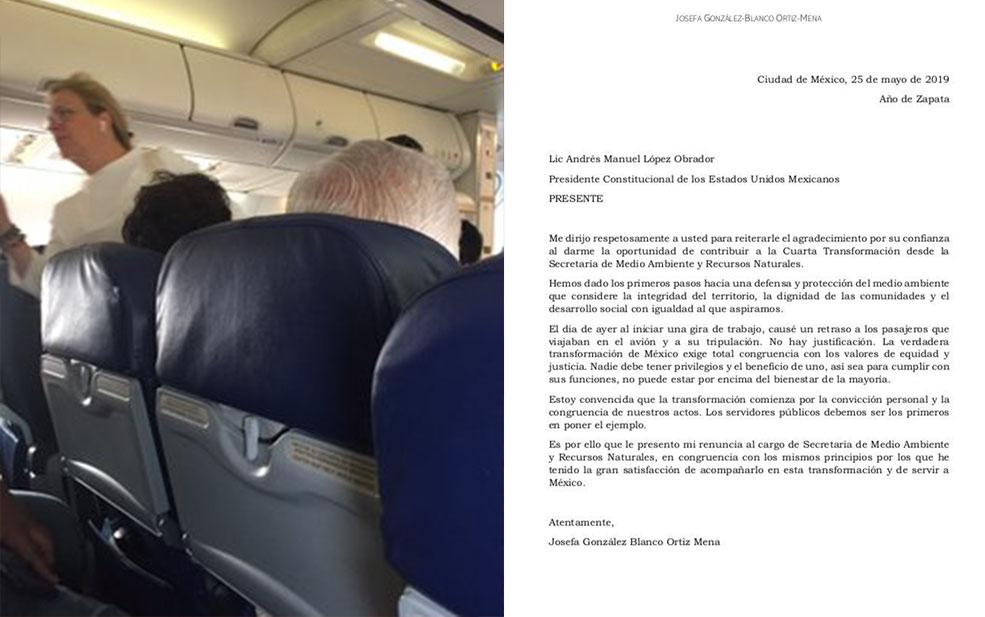 Renuncia Secretaria de Medio Ambiente por retrasar vuelo