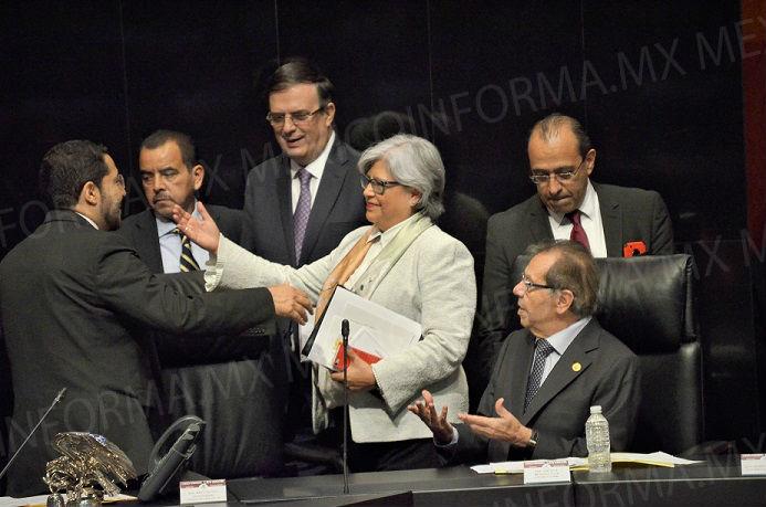 Comparecen titulares de Economía y Relaciones Exteriores ante legisladores
