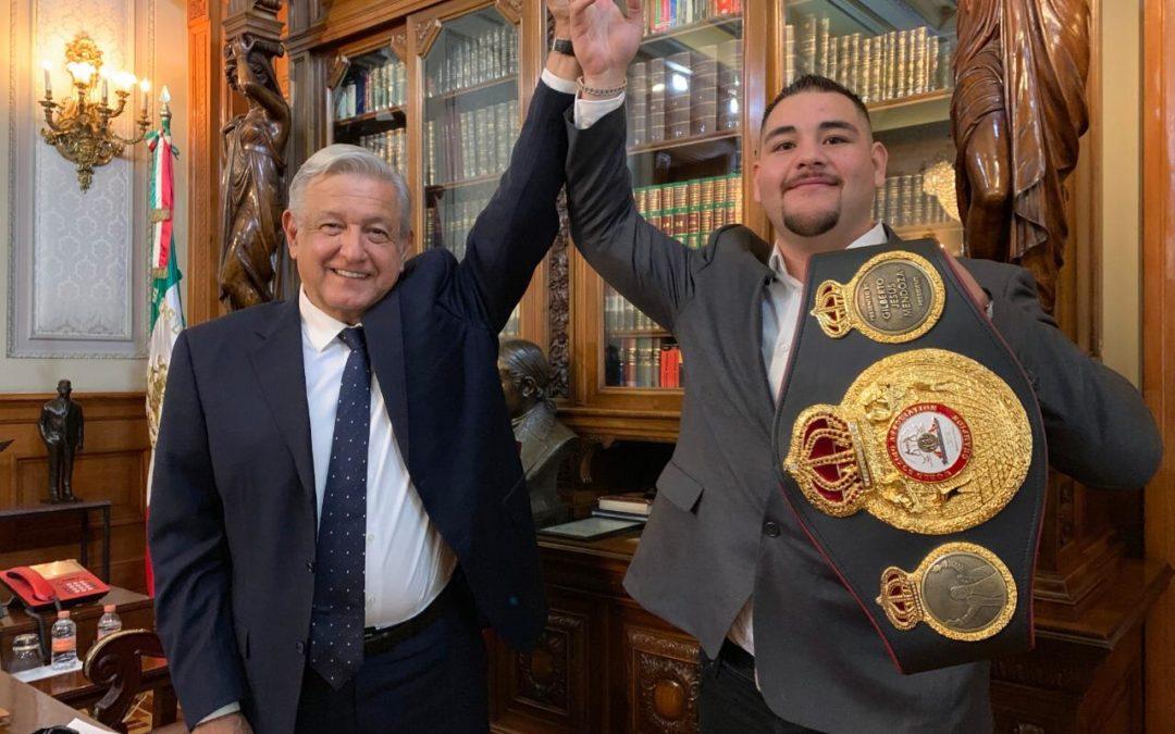 Recibe AMLO a boxeador, Andy Ruiz