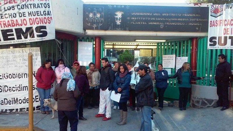 Conjuran huelga en IEMS; logran aumento de 4.3 por ciento
