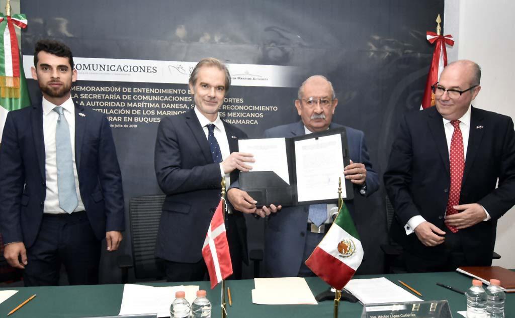 Firman México y Dinamarca Memorándum en Materia Marítima