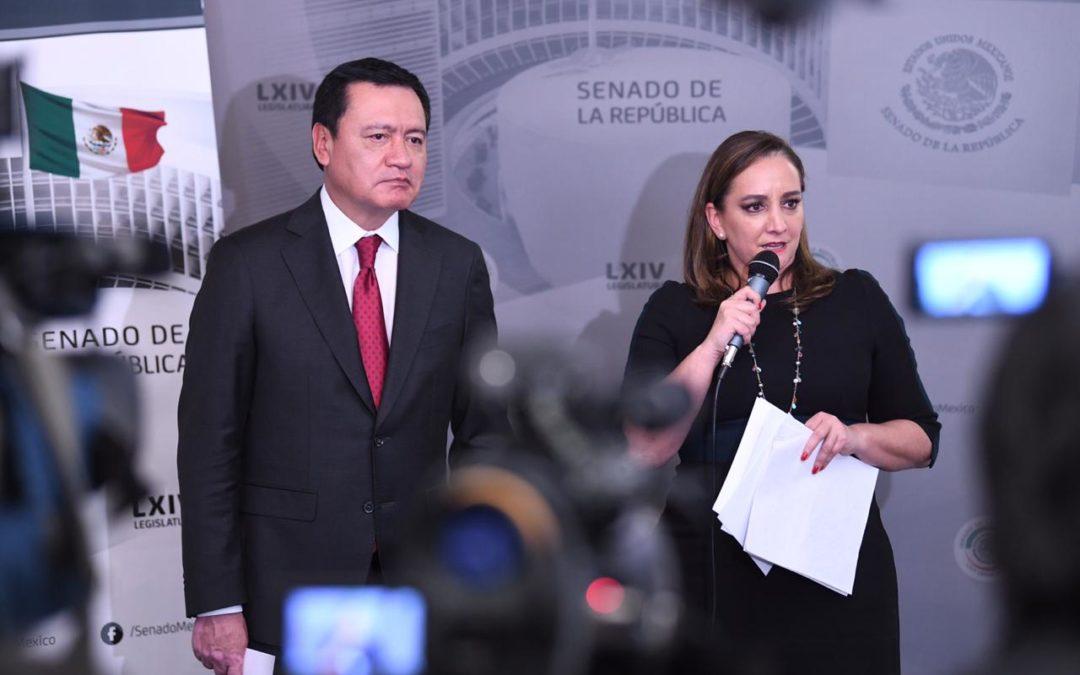 Expresa PRI en Senado solidaridad con migrantes deportados