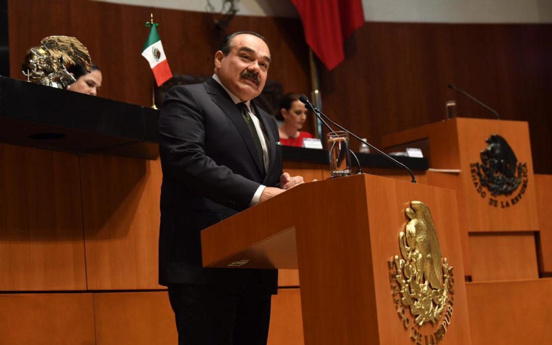 Rinden protesta senadora Rueda Gómez y senadores Saúl López y Alberto Habib