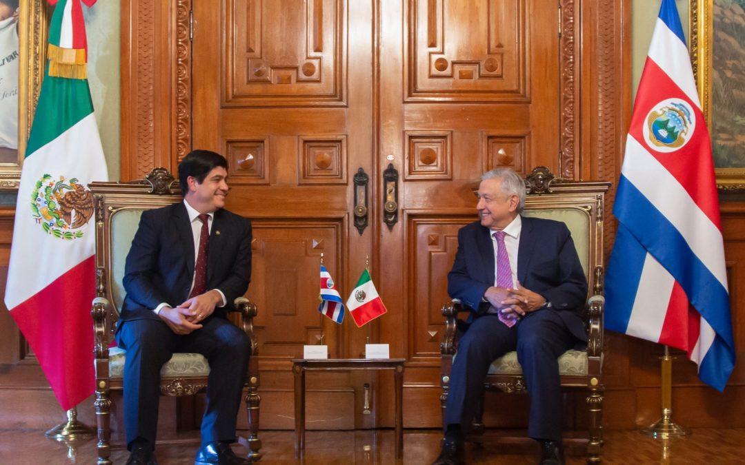 Reunión presidencial México Costa Rica