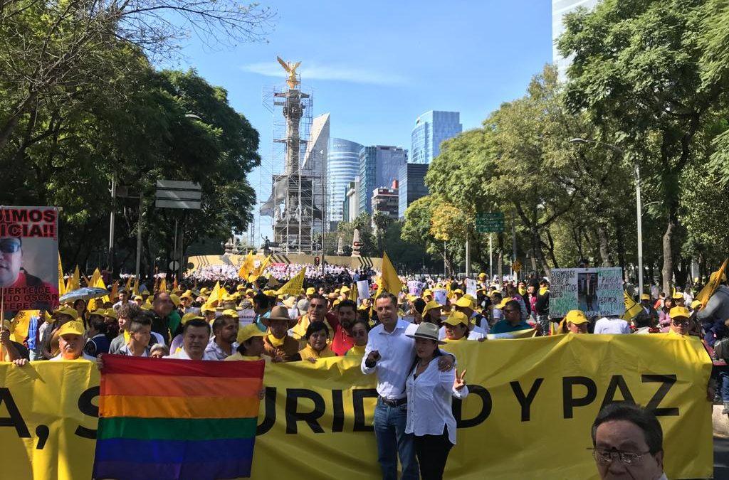 Se esperan manifestantes en calle Río Lerma