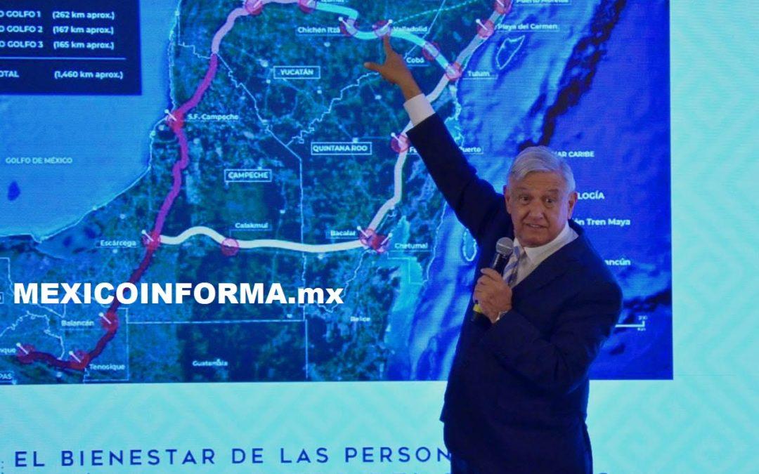 Lograr conTren Maya renacimiento del Sureste: AMLO