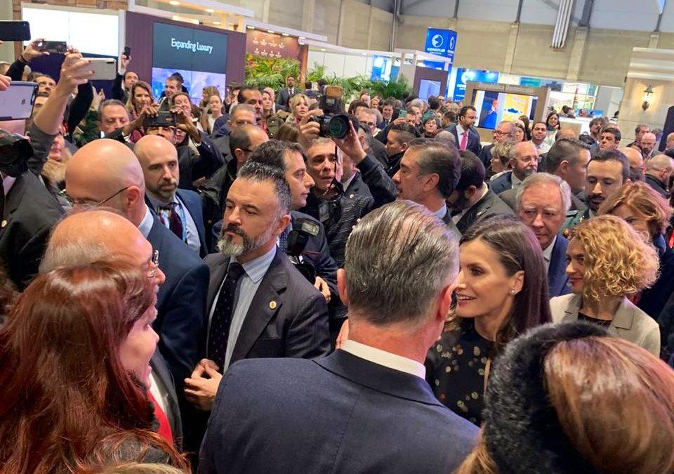 Reina Letizia visita pabellón de México en Fitur  de Madrid