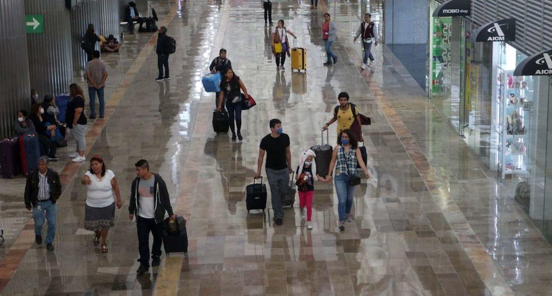 Reduce COVID-19 usuarios en Aeropuerto de la Ciudad de México