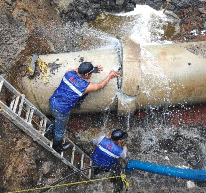 Repara Conagua fuga de agua en ramal Mixquic-Santa Catarina