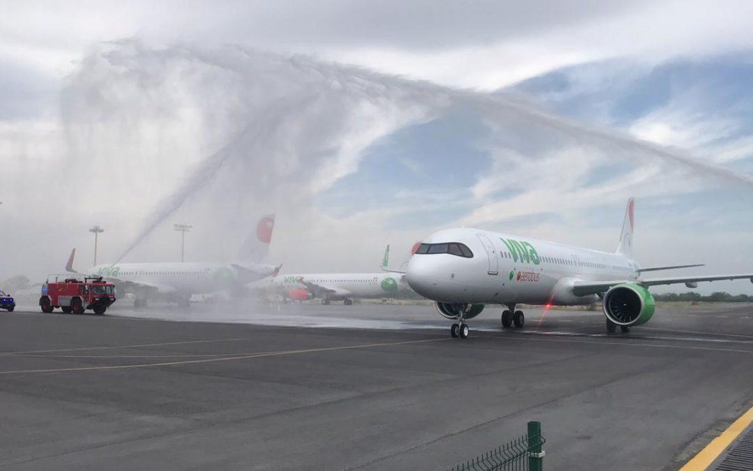 Llega 1er aeronave modelo Airbus A321neo de Viva Aerobus a México