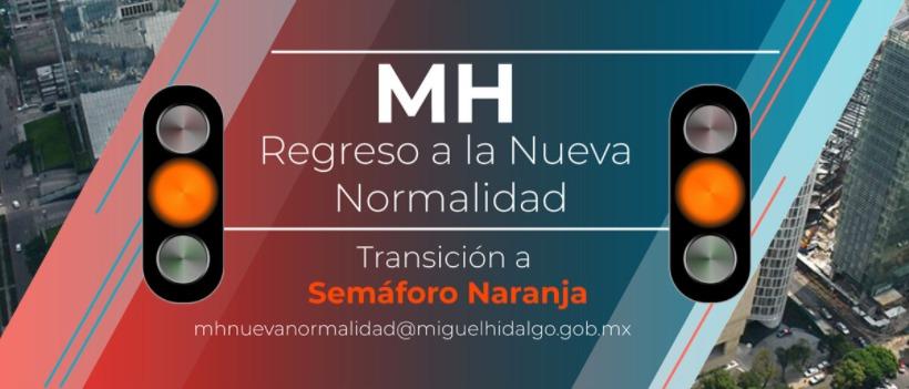 Habilita alcaldía Miguel Hidalgo portal para semáforo naranja