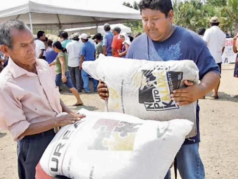 Entregan fertilizantes a más de 229 mil productores en Guerrero