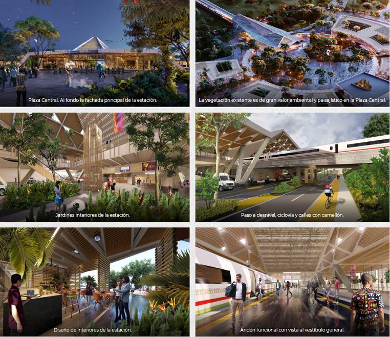 Revelan imágenes de cómo lucirían estaciones del Tren Maya