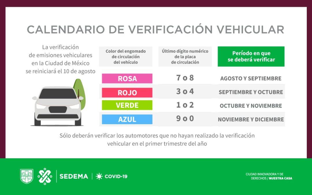 Verificación en CDMX empezaría el 10 de agosto