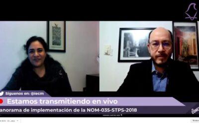 Ofrecen panorama de NOM-035-STPS-2018 en IECM