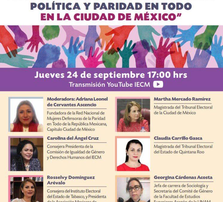 Plantean en IECM pendientes de reforma político-electoral