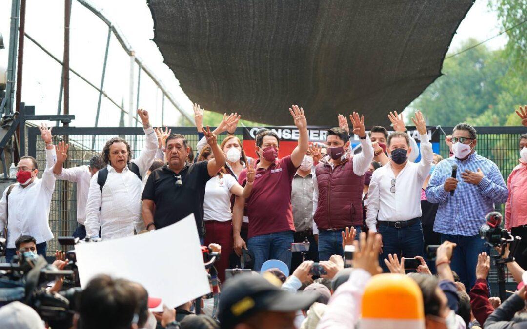 Actúen acatando la resolución del Tribunal, pide Mario Delgado a INE