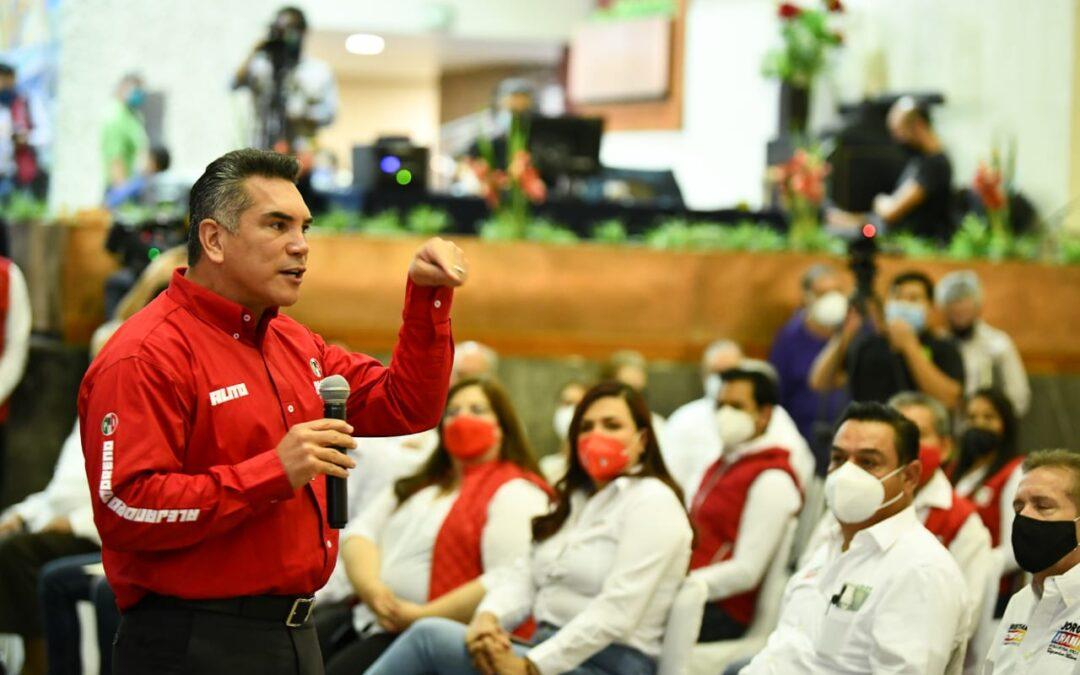 Confía Alito que candidatos de PRI y PAN van ganando aceptación