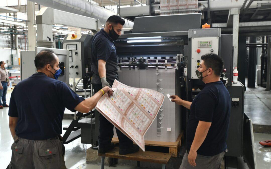 Inicia impresión de más de 16 millones de boletas para comicios en CDMX
