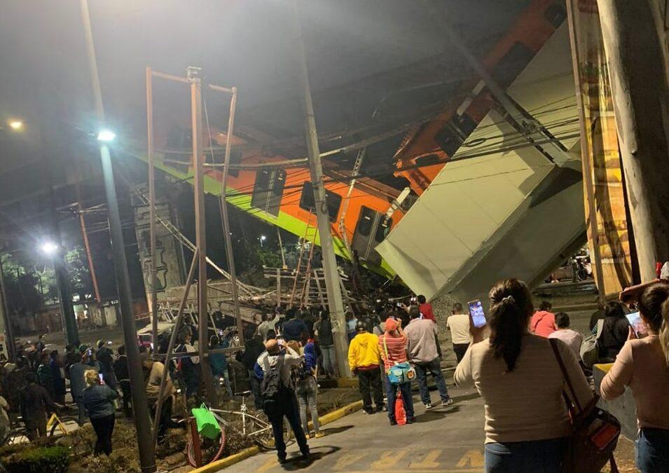 Antes de las 23 horas, colapsó el Metro elevado