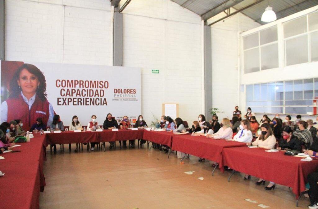 Erradicar violencia de género, compromiso de Padierna en Cuauhtémoc
