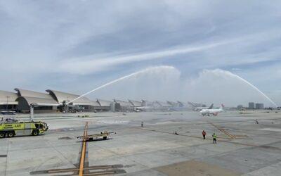 Viva Aerobus, el primero en aterrizar en nueva terminal de Los Angeles