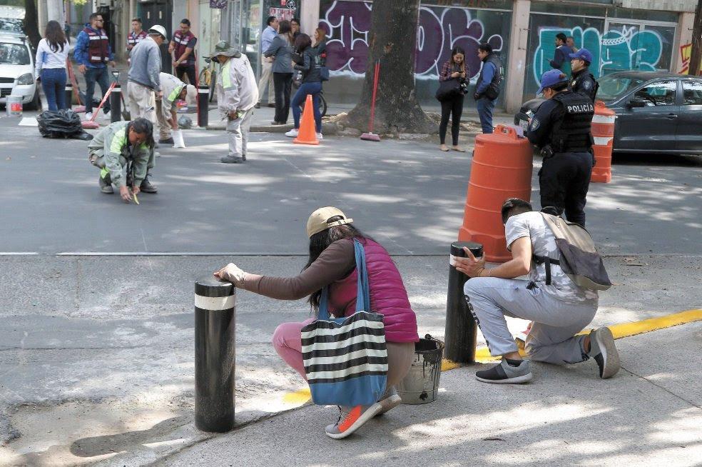 Infractores hacen trabajo comunitario en calles del centro