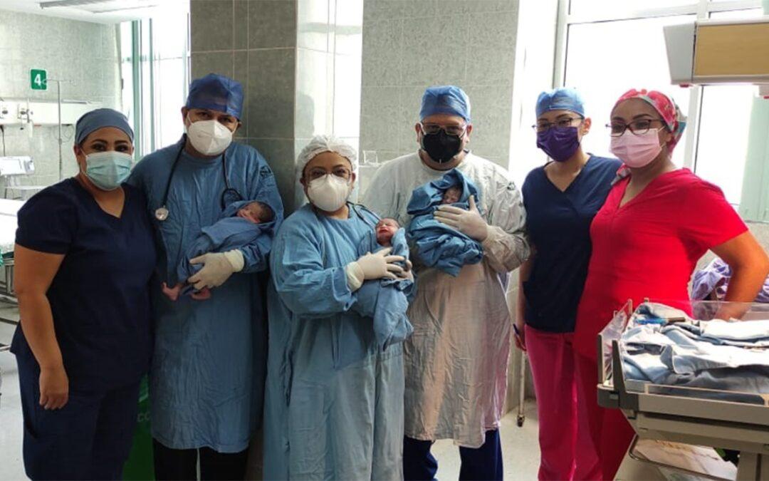 Médicos del IMSS en Coahuila logran nacimiento exitoso de trillizos